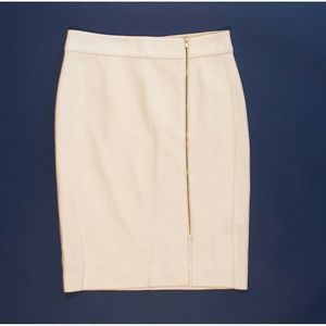 Banana Republic Boucle Wool Zip Front Pencil Skirt
